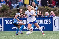 Allston, MA - Saturday, May 07, 2016: Chicago Red Stars forward Christen Press (23), Boston Breakers midfielder Kristie Mewis (19) during a regular season National Women's Soccer League (NWSL) match at Jordan Field.