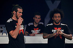 Real Madrid´s players Marcelo Vieira and Gareth Bale attend an Adidas promotional event in Madrid, Spain. August 24, 2015. (ALTERPHOTOS/Victor Blanco)