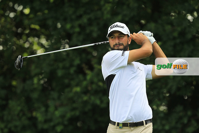 Francesco Laporta (ITA) on the 3rd tee during the Round 2 of the 2016 BMW International Open at the Golf Club Gut Laerchenhof in Pulheim, Germany on Friday 24/06/16.<br /> Picture: Golffile | Thos Caffrey