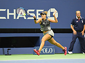 6th September 2017, Flushing Meadowns, New York, USA;  Madison Keys (USA) in action during her quarter-final match at the US Open, on September 06, 2017 at the Billie Jean King National Tennis Center in Flushing, NY.