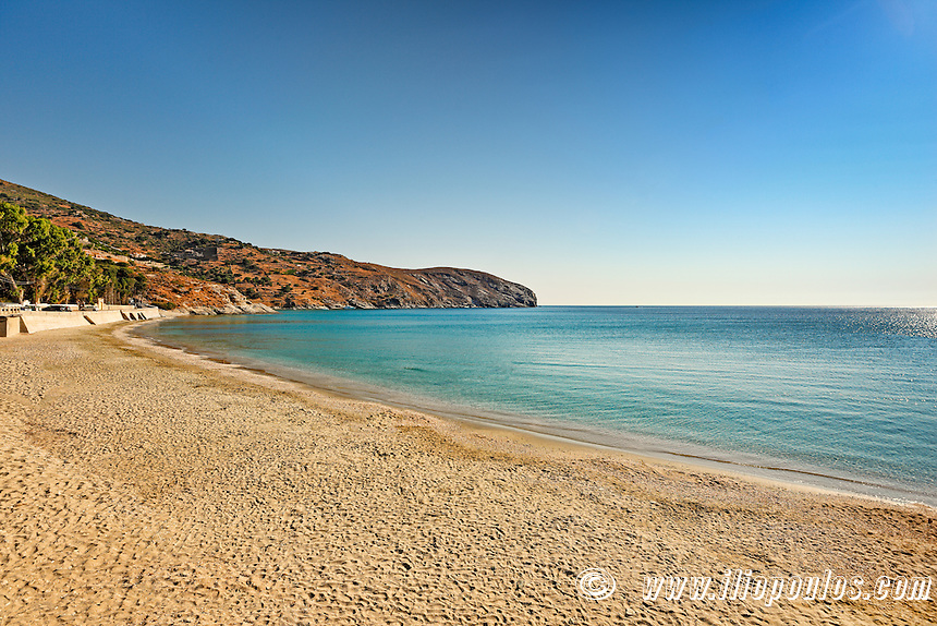 Gialia beach near Stenies village in Andros island, Greece