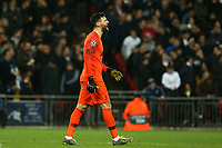 Hugo Lloris of Tottenham Hotspur celebrates Tottenham scoring the first goal during Tottenham Hotspur vs Borussia Dortmund, UEFA Champions League Football at Wembley Stadium on 13th February 2019