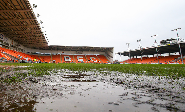 A general view of Bloomfield Road, home of Blackpool FC<br /> <br /> Photographer Alex Dodd/CameraSport<br /> <br /> The EFL Sky Bet League One - Blackpool v Shrewsbury Town - Saturday 19 January 2019 - Bloomfield Road - Blackpool<br /> <br /> World Copyright © 2019 CameraSport. All rights reserved. 43 Linden Ave. Countesthorpe. Leicester. England. LE8 5PG - Tel: +44 (0) 116 277 4147 - admin@camerasport.com - www.camerasport.com