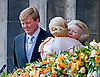 "30.04.2013; Amsterdam: QUEEN MAXIMA KISSES FORMER QUEEN BEATRIX WHILE HER SON KING WILLEM-ALEXANDER LOOK ON.after the Abdication, appear on the balcony of the Royal Palace, Amsterdam, The Netherlands..Mandatory Credit Photos: ©NEWSPIX INTERNATIONAL..**ALL FEES PAYABLE TO: ""NEWSPIX INTERNATIONAL""**..PHOTO CREDIT MANDATORY!!: NEWSPIX INTERNATIONAL(Failure to credit will incur a surcharge of 100% of reproduction fees)..IMMEDIATE CONFIRMATION OF USAGE REQUIRED:.Newspix International, 31 Chinnery Hill, Bishop's Stortford, ENGLAND CM23 3PS.Tel:+441279 324672  ; Fax: +441279656877.Mobile:  0777568 1153.e-mail: info@newspixinternational.co.uk"