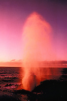 Halona Blowhole at sunset, Windard Oahu