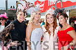 Breda Boyce, Elaina Mullane, Karen Mullane and Mag Roche, all from Limerick, enjoying Ladies Day at Listowel Races on Friday last.