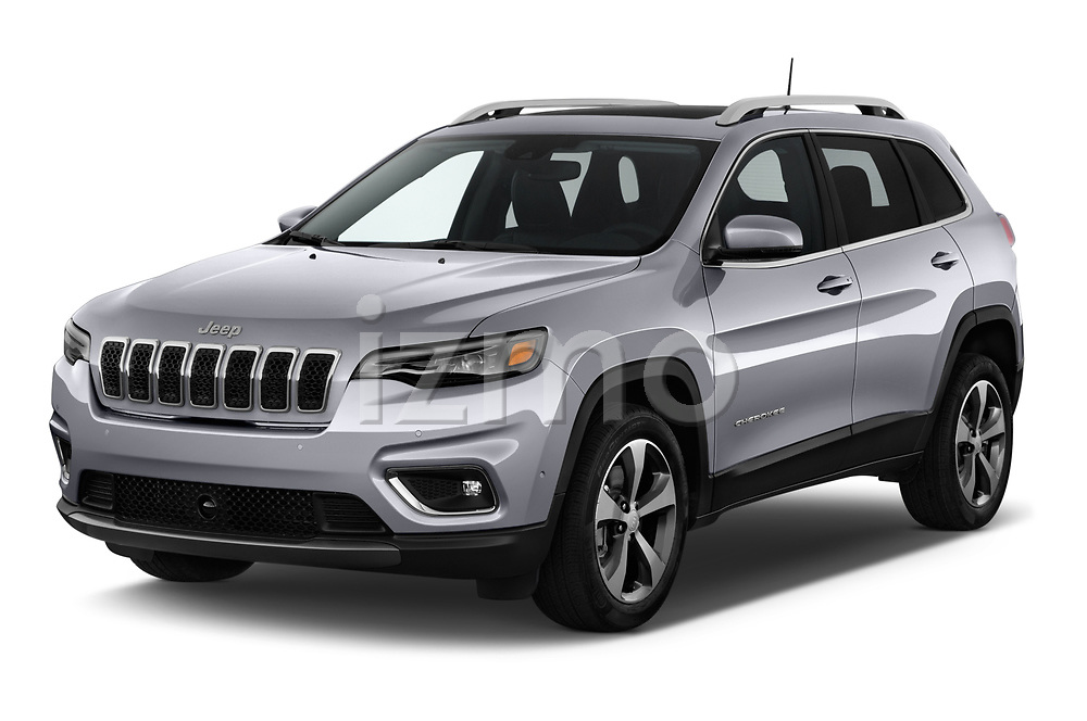 2018 Jeep Cherokee Limited 5 Door SUV angular front stock photos of front three quarter view