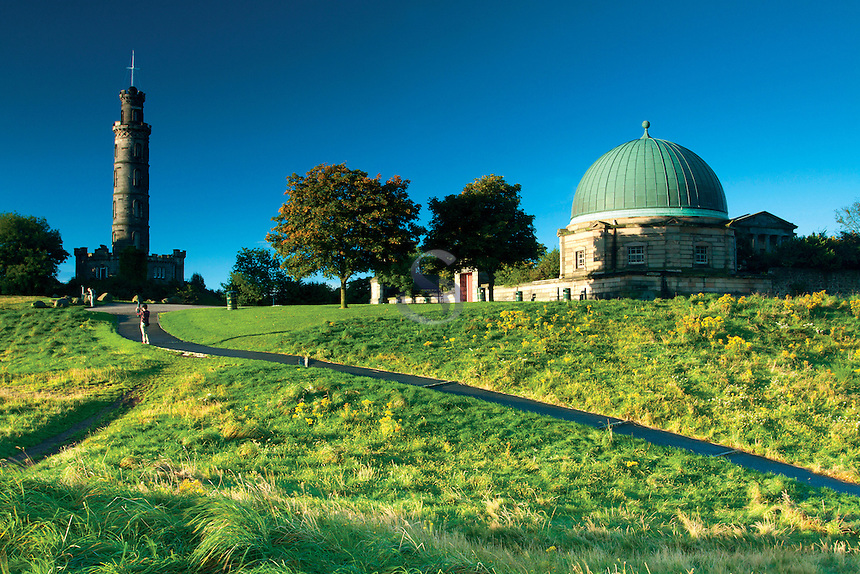 Nelson Monument and the City Observatory, Calton Hill, Edinburgh