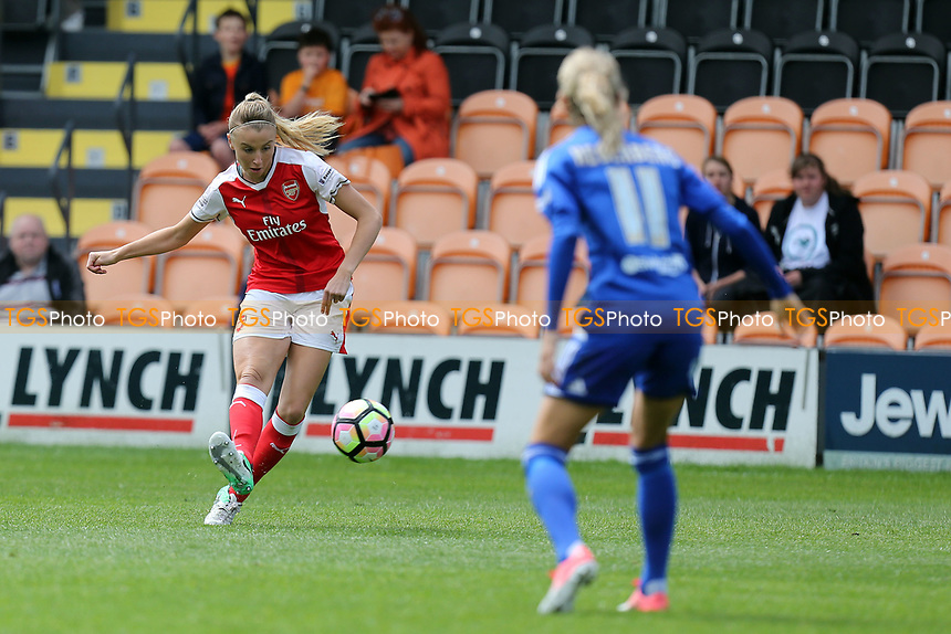 Andrine Hegerberg of Birmingham City Ladies and Beth Mead of Arsenal Ladies during Arsenal Ladies vs Birmingham City Ladies, FA Women's Super League FA WSL1 Football at the Hive Stadium on 20th May 2017