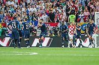 MOSCOU, RUSSIA, 15.07.2018 - FRANCA-CROACIA - jogadores comemoram gol da França durante partida contra Croacia em jogo valido pela Final da Copa do Mundo da Russia no Estádio Luzhnikina cidade de Moscou na Russia neste domingo, 15. (Foto: William Volcov/Brazil Photo Press)