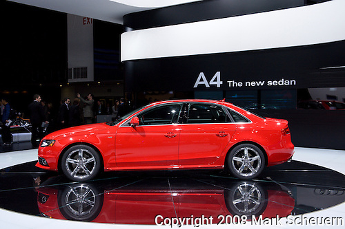 2009 Audi A4 at the 2008 North American International Auto Show in Detroit Michigan USA