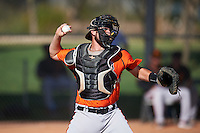San Francisco Giants Cody Brickhouse (5) during an Instructional League game against the Chicago White Sox on October 10, 2016 at the Camelback Ranch Complex in Glendale, Arizona.  (Mike Janes/Four Seam Images)