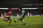 Atletico de Madrid's Angel Martin Correa and RCD Espanyol's Sergio Garcia during La Liga match between Atletico de Madrid and RCD Espanyol at Wanda Metropolitano Stadium in Madrid, Spain. December 22, 2018. (ALTERPHOTOS/A. Perez Meca)