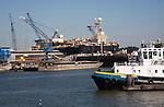 Shipyard in Port of Rotterdam, Netherlands