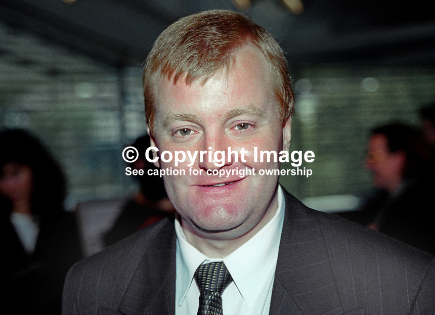 Charles Kennedy, MP, party leader, Liberal Democrats, Britain, UK,199909029. Taken at Annual Conference, Harrogate, September 1999<br /> <br /> Copyright Image from Victor Patterson, 54 Dorchester Park, Belfast, UK, BT9 6RJ<br /> <br /> t: +44 28 90661296<br /> m: +44 7802 353836<br /> <br /> e1: victorpatterson@me.com<br /> e2: victorpatterson@gmail.com<br /> <br /> For my Terms and Conditions of Use go to www.victorpatterson.com