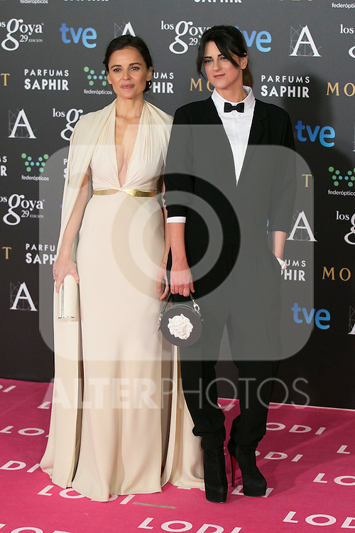 Elena Anaya attend the 2015 Goya Awards at Auditorium Hotel, Madrid,  Spain. February 07, 2015.(ALTERPHOTOS/)Carlos Dafonte)