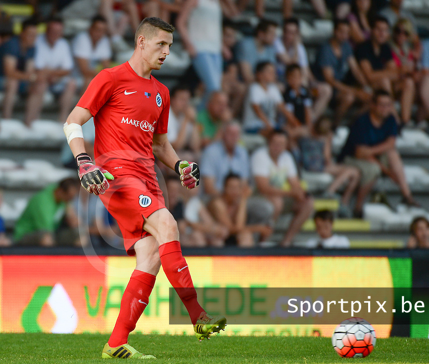 20150703 - ROESELARE , BELGIUM : Brugge's testing Kenan Piric  pictured during a friendly match between Belgian second division team KSV Roeselare and Belgian first division soccer team Club Brugge , during the preparations for the 2015-2016 season, Friday 3 July 2015 in Roeselare . PHOTO DAVID CATRY