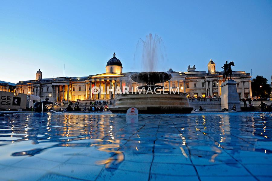 Praça Trafalgar Square. Londres. Inglaterra. 2008. Foto de Juca Martins.