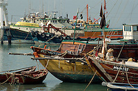 China, Hongkong-Lantau, Fischerboote in Tai O