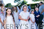 At the Corpus Christi Procession from st. Johns Church Tralee on Saturday were Keylan Sinnort, Lisa O'Shea, Alma Long andDylan Shanahan