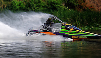 Jul. 19, 2009; Augusta, GA, USA; IHBA top alcohol hydro driver Mike Frye races during the Augusta Southern Nationals on the Savannah River. Mandatory Credit: Mark J. Rebilas-