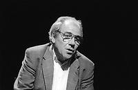 Jean Baudrillard è stato uno scrittore, sociologo, filosofo, politologo, accademico francese di formazione tedesca. Autore di oltre cinquanta libri, è uno dei più influenti pensatori contemporanei. Milano, 11 maggio 1988. Photo by  Leonardo Cendamo/Gettyimages