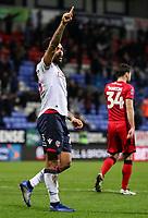 Bolton Wanderers' Josh Magennis celebrates scoring his side's second goal <br /> <br /> Photographer Andrew Kearns/CameraSport<br /> <br /> Emirates FA Cup Third Round - Bolton Wanderers v Walsall - Saturday 5th January 2019 - University of Bolton Stadium - Bolton<br />  <br /> World Copyright &copy; 2019 CameraSport. All rights reserved. 43 Linden Ave. Countesthorpe. Leicester. England. LE8 5PG - Tel: +44 (0) 116 277 4147 - admin@camerasport.com - www.camerasport.com