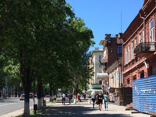 Alllee des Friedens in Mariupol
