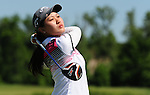 WATERLOO, ON - JUNE 7: Xi Yu Lin, of China, hits her drive on the 16th hole during the third round of the Manulife Financial LPGA Classic at the Grey Silo Golf Course on June 7, 2014 in Waterloo, Ontario, Canada. (Photo by Steve Dykes/Getty Images) *** Local Caption *** Xi Yu Lin