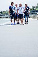 Team Italy Staff ITA<br /> Open Water 5km Team Event - Kazanka River<br /> Day07 30/07/2015<br /> XVI FINA World Championships Aquatics Swimming<br /> Kazan Tatarstan RUS July 24 - Aug. 9 2015 <br /> Photo A.Masini/Deepbluemedia/Insidefoto