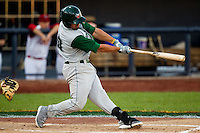 Jake Blackwood (10) of the Fort Wayne Tin Caps makes follows through on his swing during the Midwest League All-Star Game at Modern Woodmen Park on June 21, 2011 in Davenport, Iowa. (David Welker / Four Seam Images)