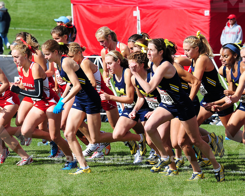 University of Michigan women's cross coutry at the Adidas Cross Country Invitational in Madison, WI, on October 2nd, 2010.