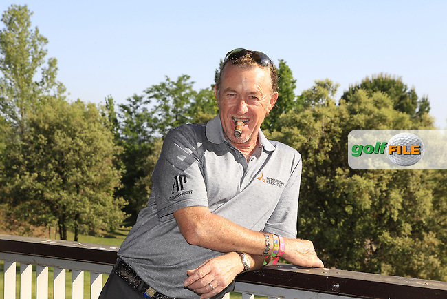 Miguel Angel Jimenez spent a few minutes in the media centre after Round 3 of the Open de Espana  in Club de Golf el Prat, Barcelona on Saturday 16th May 2015.<br /> Picture:  Thos Caffrey / www.golffile.ie
