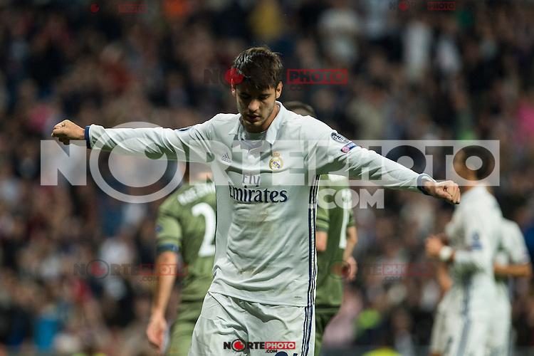 Real Madrid's Alvaro Morata during the match of UEFA Champions League group stage between Real Madrid and Legia de Varsovia at Santiago Bernabeu Stadium in Madrid, Spain. October 18, 2016. (ALTERPHOTOS/Rodrigo Jimenez) /NORTEPHOTO.COM