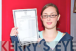 Una Fitzmaurice from Moyvane who got seven A1's six hundred points in her leaving at Tarbert Comprehensive School on Wednesday morning..   Copyright Kerry's Eye 2008