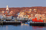 Sunrise on Rockport Harbor, Rockport, Massachusetts, USA