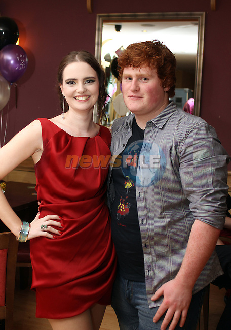 Cathy McGlynn with her boyfriend Niall Kirwan at her 21st in The Thatch....(Photo credit should read Jenny Matthews www.newsfile.ie)....This Picture has been sent you under the conditions enclosed by:.Newsfile Ltd..The Studio,.Millmount Abbey,.Drogheda,.Co Meath..Ireland..Tel: +353(0)41-9871240.Fax: +353(0)41-9871260.GSM: +353(0)86-2500958.email: pictures@newsfile.ie.www.newsfile.ie.