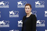 Gina McKee attends a photocall for the movie 'Taj Mahal' during the 72nd Venice Film Festival at the Palazzo Del Cinema in Venice, Italy, September 10, 2015.<br /> UPDATE IMAGES PRESS/Stephen Richie