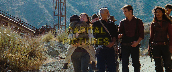 JEWEL STAITE, RON GLASS, NATHAN FILLION & GINA TORRES.in Serenity.*Editorial Use Only*.www.capitalpictures.com.sales@capitalpictures.com.Supplied by Capital Pictures.