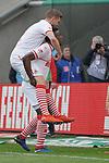 09.03.2019, RheinEnergieStadion, Koeln, GER, 2. FBL, 1.FC Koeln vs. Arminia Bielefeld,<br />  <br /> DFL regulations prohibit any use of photographs as image sequences and/or quasi-video<br /> <br /> im Bild / picture shows: <br /> Torjubel / Jubel / Jubellauf,    Jhon C&oacute;rdoba (FC Koeln #15),   freut sich mit Simon Terodde (FC Koeln #9), ueber sein Tor <br /> <br /> Foto &copy; nordphoto / Meuter