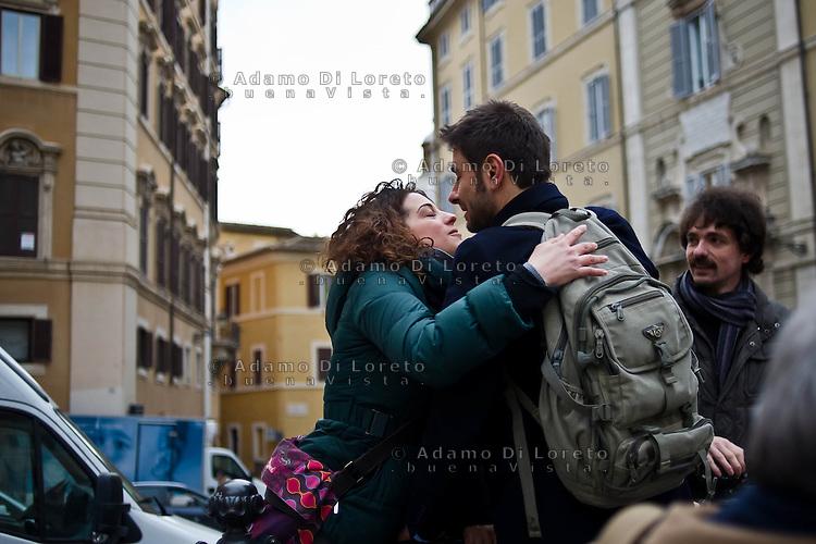ROMA 15/03/2012: Inizia la XVII Legislatura della Repubblica Italiana. L'ingresso degli Onorevoli a Montecitorio. Nella foto  Alessandro Di Battista M5S FOTO DI LORETO ADAMO
