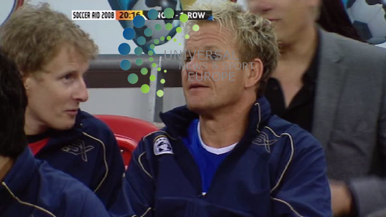 Soccer Video Grabs .Gordon Ramsay returned to captain Rest of the World..England won 4 - 3 against the Rest of the World at Wembley stadium on Sunday 7 September 2008.7 September 2008. Picture: Maurice McDonald/Universal News And Sport (Scotland)..(Universal News does not claim any Copyright or License in the attached material. Any downloading fee charged by Universal News and Sport is for Universal News services only. We are advised that videograbs should not be used more than 48 hours after the time of original transmission, without the consent of the copyright holder). Picture: Universal News And Sport (Scotland).......... ........... .