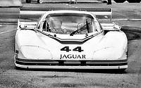 #44 Jaguar XJR-5 of  Bill Adam and Bob Tullius races on the track during the Budweiser Grand Prix of Miami, Bicentennial Park, Miami, FL, February 27, 1983(Photo by Brian Cleary/bcpix.com)