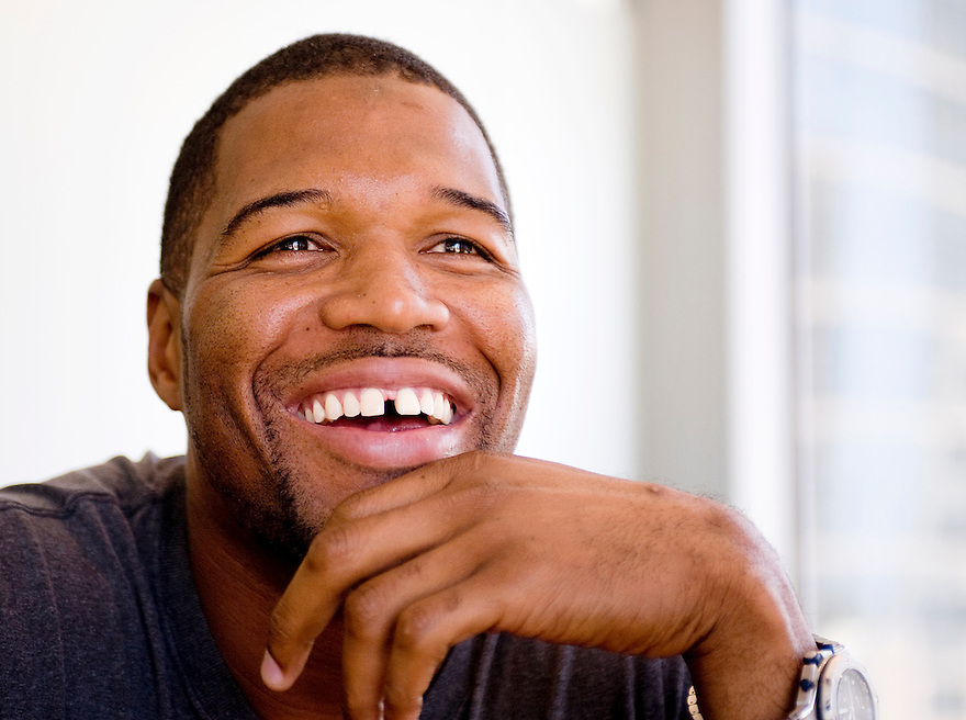 Portraits of former NFL star Michael Strahan