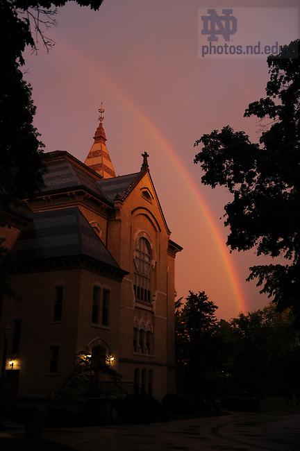 Rainbow over Washington Hall..Photo by Matt Cashore/University of Notre Dame
