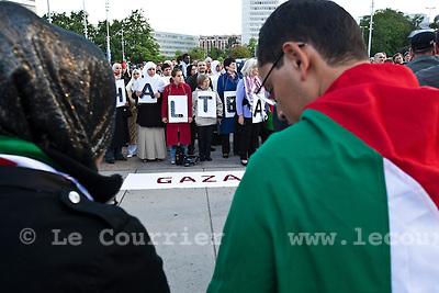 Genève, le 31.05.2010.Manifestation anti-israelienne à la place des nations.© Le Courrier / J.-P. Di Silvestro