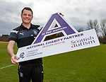 06.04.2018 Rangers training:<br /> Graeme Murty with Scottish Autism, charity partner for 2018