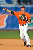 May 30, 2009:  NCAA Division 1 Gainesville Regional:    Miami  INF Scott Lawson (2) during 2nd round regional action at Alfred A. McKethan Stadium on the campus of University of Florida in Gainesville. Host University of Florida Gators defeated Miami Hurricanes  8-2 to advance in the Winners bracket.............