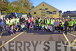 Supporters of Emmets GAA Listowel getting ready for the cycle run last Sunday morning in Sheehy Park, Listowel..