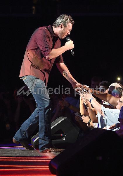 11 June 2016 - Nashville, Tennessee - Blake Shelton. 2016 CMA Music Festival Nightly Concert held at Nissan Stadium. Photo Credit: Laura Farr/AdMedia